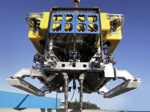 ROV trencher cable lay