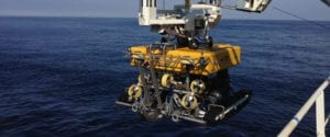 ROV marine cable installation